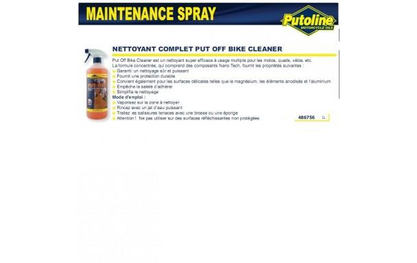 Nettoyant complet put Off bike cleaner (spray) , , 1L PUTOLINE