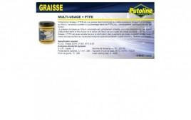 Graisse multiusages + PTFE , , 600Gr PUTOLINE