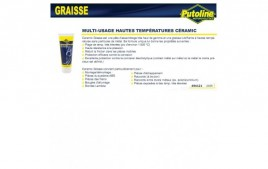 Graisse racing multi usage hautes temperatures ceramic- jusqu'à 1500°c, 100% synthèse, 100Gr PUTOLINE