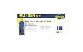 Huile 4T Nano Tech 4+ 5W40 , 100% synthèse, 1L PUTOLINE