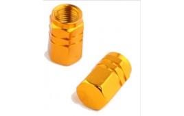 """Paire de bouchons de valves """"ECROU"""" OR (6 couleurs)"""