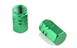 """Paire de bouchons de valves """"ECROU"""" VERT (6 couleurs)"""