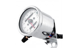 Compteur vitesse chromé VINTAGE 0-160km/h BRAZOLINE