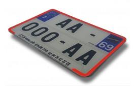 Liseret ROUGE pour plaque immatriculation 210 x 145 mm