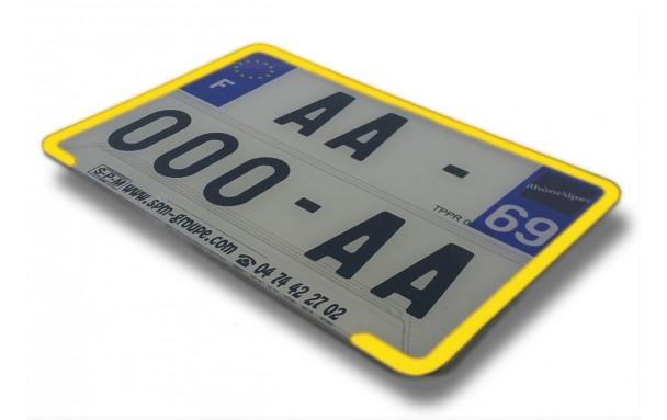 liseret jaune pour plaque immatriculation 210 x 145 mm europ 39 acc. Black Bedroom Furniture Sets. Home Design Ideas