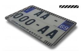 Liseret CARBONE pour plaque immatriculation 210 x 145 mm