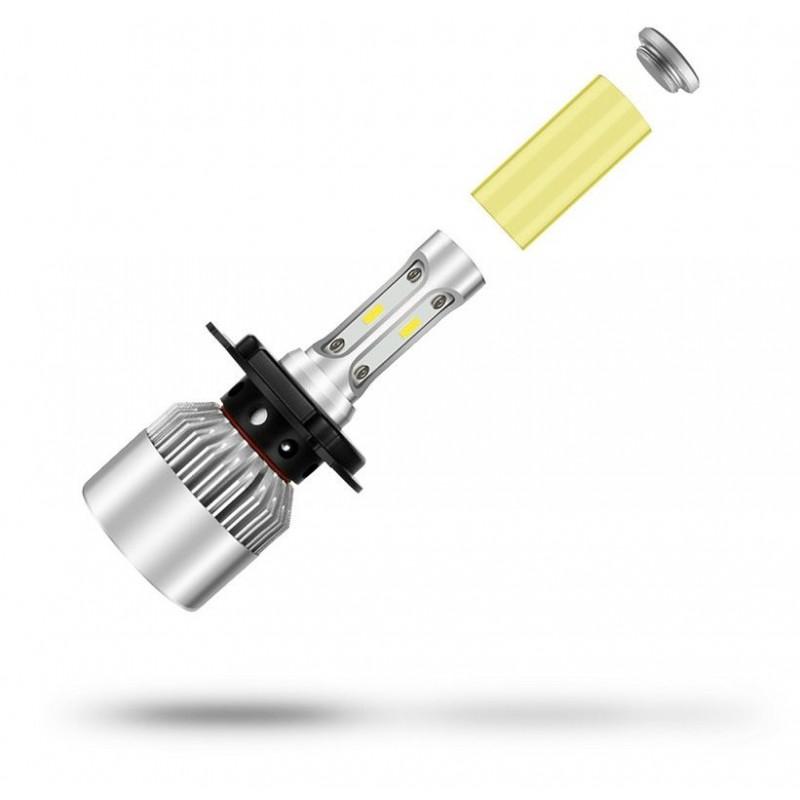 Ampoule leds jaune h4 12v p43t europ 39 acc - Ampoule led jaune ...