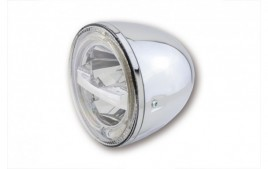 5 3/4 pouces LED Phare CIRCLE, chrome HIGHSIDER