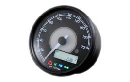 Compteur et compte tour DAYTONA VELONA 80mm 200km/h et RPM LCD