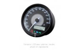 Compteur et compte tour DAYTONA VELONA 80mm 260km/h et RPM LCD