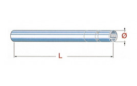 Tube de fourche HONDA GL 500 SILVERWING
