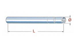 Tube de fourche inversé DUCATI Hypermotard 821, droite